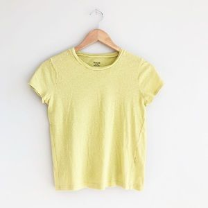 Madewell Lo-Fi Shrunken Tee Shirt in Crisp Pear XS